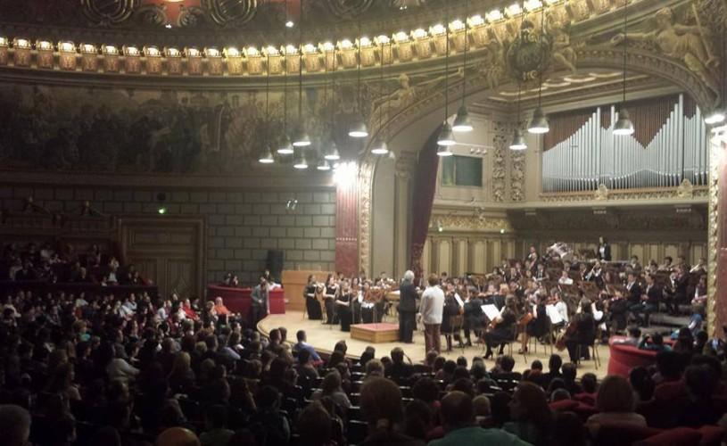 """Concert susţinut de elevii Colegiului """"Lipatti"""", la Ateneu, pentru a marca 100 de ani de la naşterea celebrului pianist"""