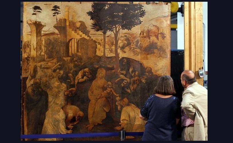 """""""Adorația magilor"""", de Leonardo da Vinci, redată publicului"""