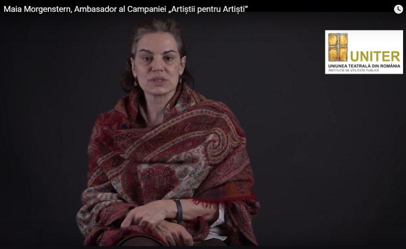 Maia Morgenstern – Ambasador  al Campaniei Artiștii pentru Artiști, ediția 2017