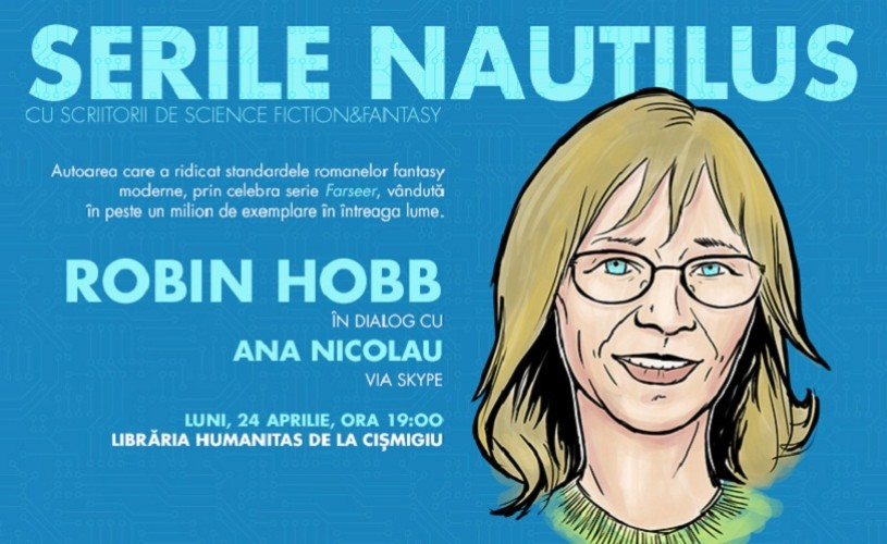 Robin Hobb, celebra scriitoare fantasy, invitată prin skype la Serile Nautilus