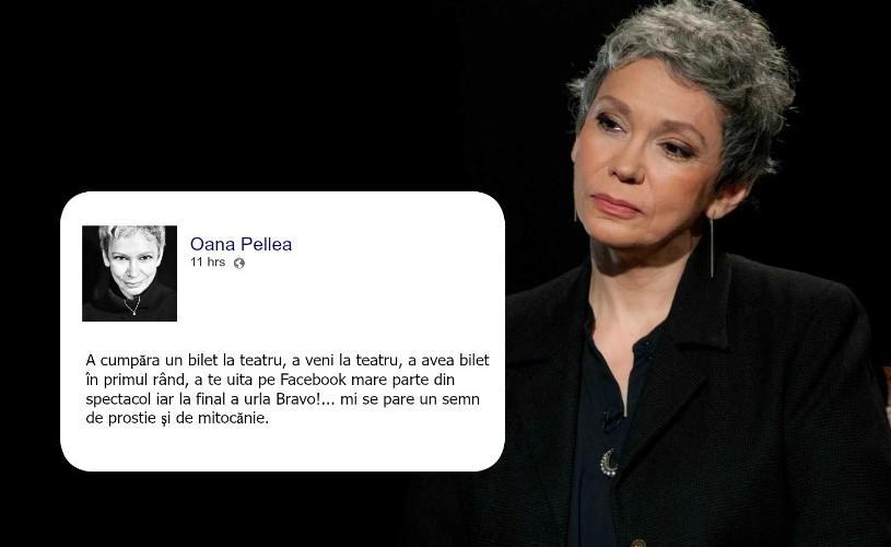 Oana Pellea are un mesaj important pentru cei care vin la teatru