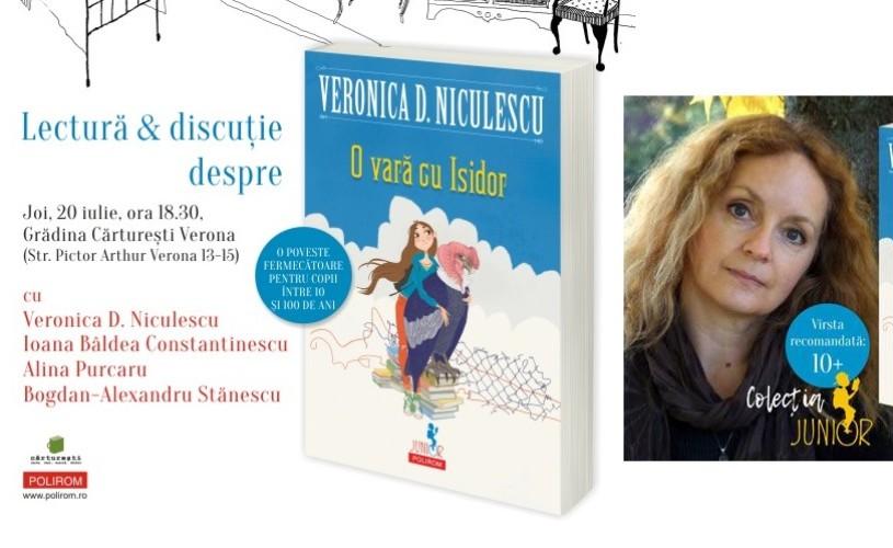 O vară cu Isidor, în Grădina Cărturești Verona