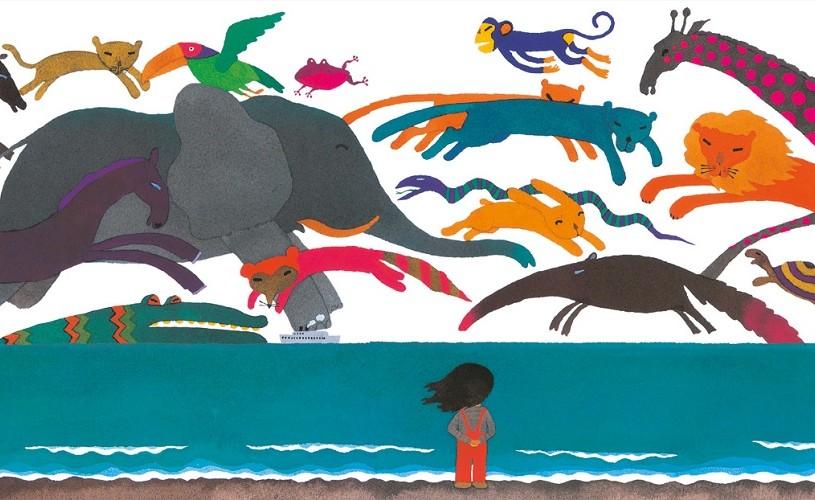 """""""Dincolo de mare"""", una dintre cele mai cunoscute cărţi scrise şi ilustrate de Tarō Gomi, în limba română!"""