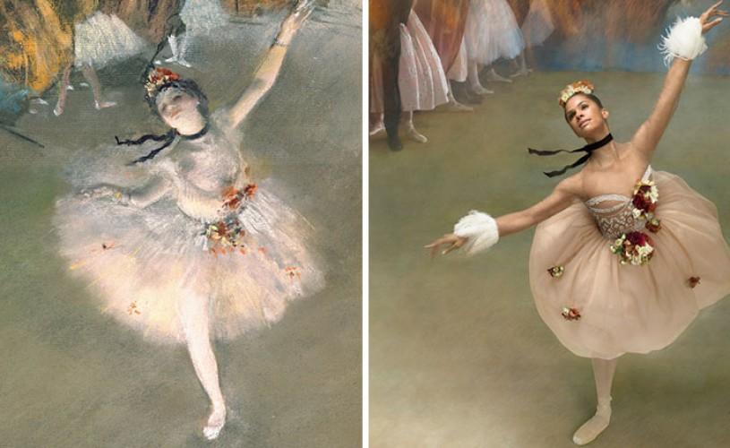 Pe urmele lui Edgar Degas. O balerină a recreat operele pictorului impresionist