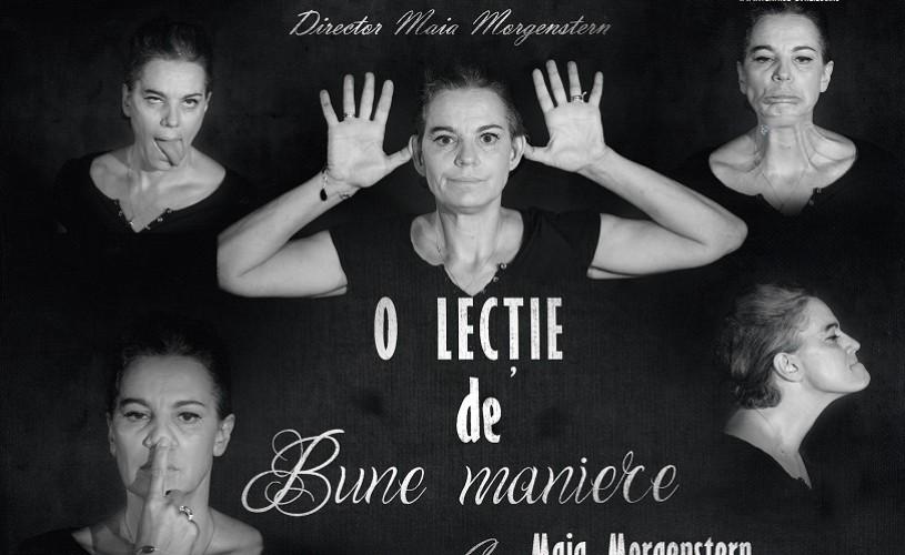 """""""O lecţie de bune maniere"""", one-woman show cu Maia Morgenstern, în premieră la Teatrul Evreiesc de Stat"""