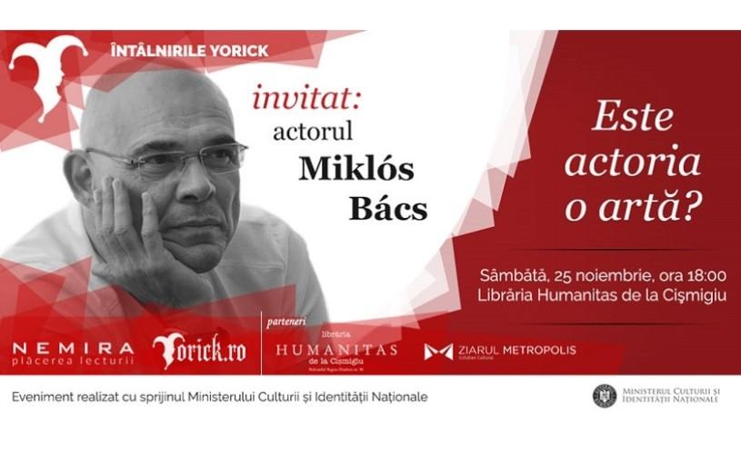 Miklós Bács vine la Întâlnirile Yorick