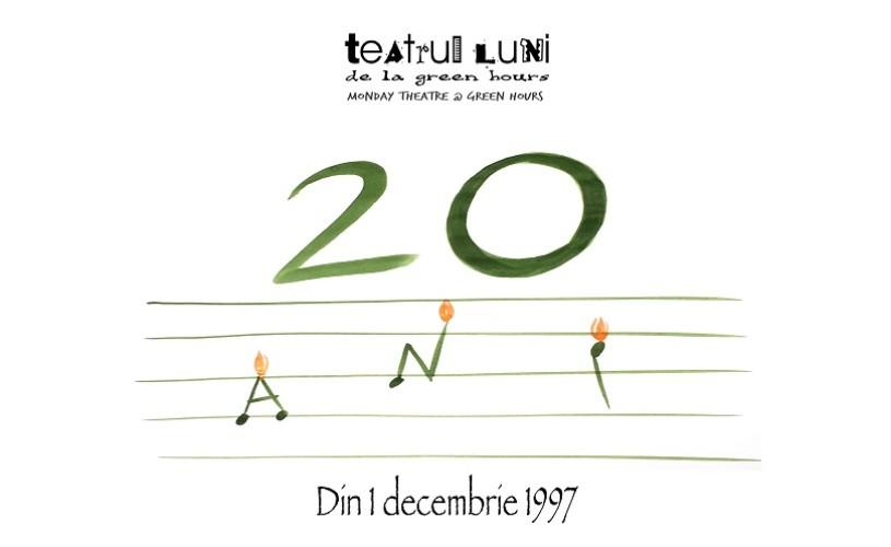 Spectacole-eveniment la sărbătoarea de 20 de ani  a Teatrului LUNI de la Green Hours