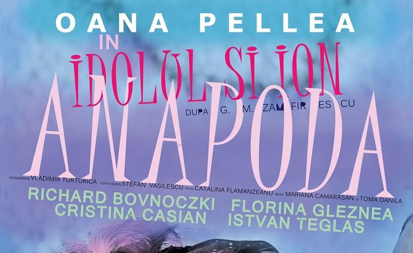 """""""Idolul și Ion Anapoda"""" cu Oana Pellea, pe 29 noiembrie, la ARCUB"""