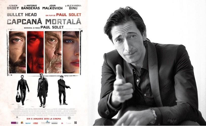 """Adrien Brody și Alexandra Dinu, în România pentru premiera filmului """"Bullet Head"""""""