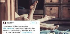 Și cea mai proastă scenă de sex tipărită într-un roman publicat în 2017 este...