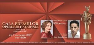 Gala Premiilor Operelor Naţionale, în direct la TVR3 (joi de la ora 19.00)