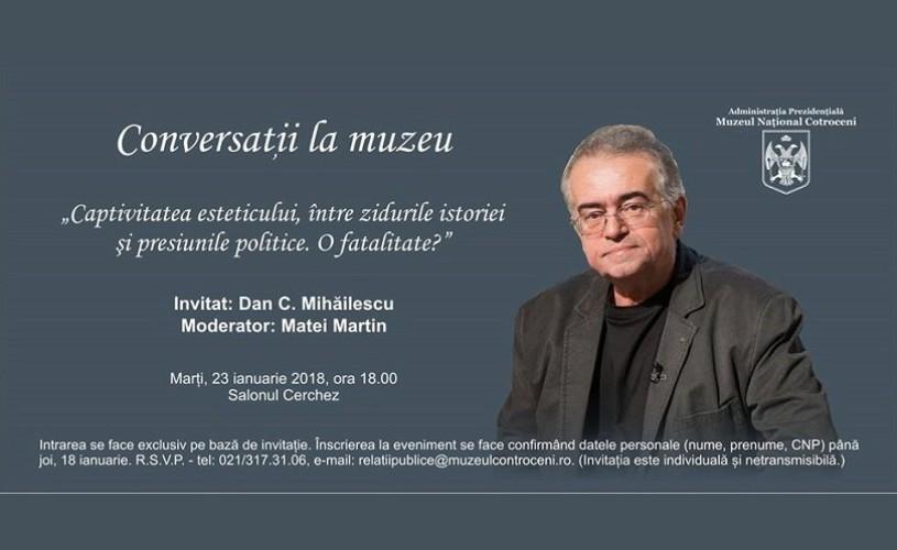 Dan C. Mihăilescu deschide seria conferințelor la Muzeul Național Cotroceni