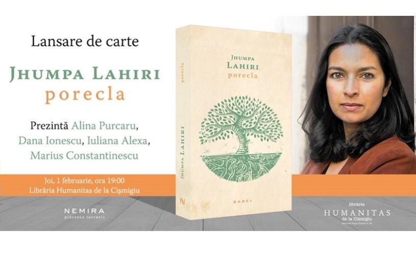 """""""Porecla"""", de Jhumpa Lahiri, lansat joi, 1 februarie, la Nemira"""