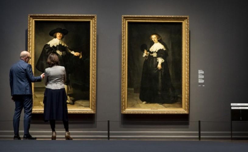 Două portrete de Rembrandt restaurate vor fi expuse, alternativ, la Luvru şi Rijksmuseum