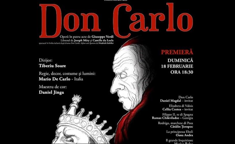 """""""Don Carlo"""",  de Giuseppe Verdi – O nouă premieră pe scena Operei Naționale București"""