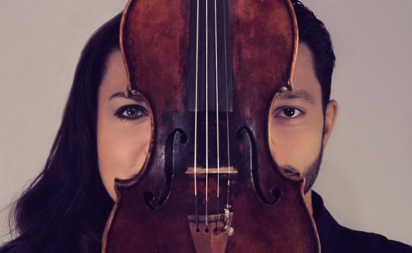 Răzvan Stoica și vioara sa Stradivarius (1729), pe scena Sălii Radio