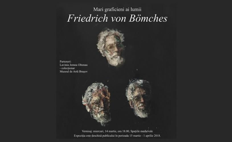 """Expoziţia """"Mari graficieni ai lumii – Friedrich von Bömches"""", la Muzeul Naţional Cotroceni"""