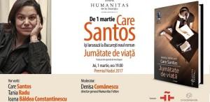 """Care Santos revine la București pentru lansarea romanului """"Jumătate de viață"""""""