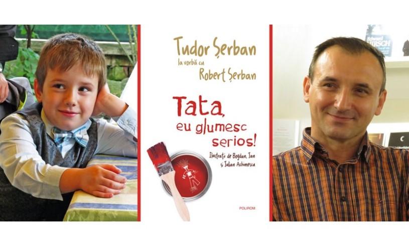 Cel mai tânăr autor debutează la Polirom cu volumul Tata, eu glumesc serios!
