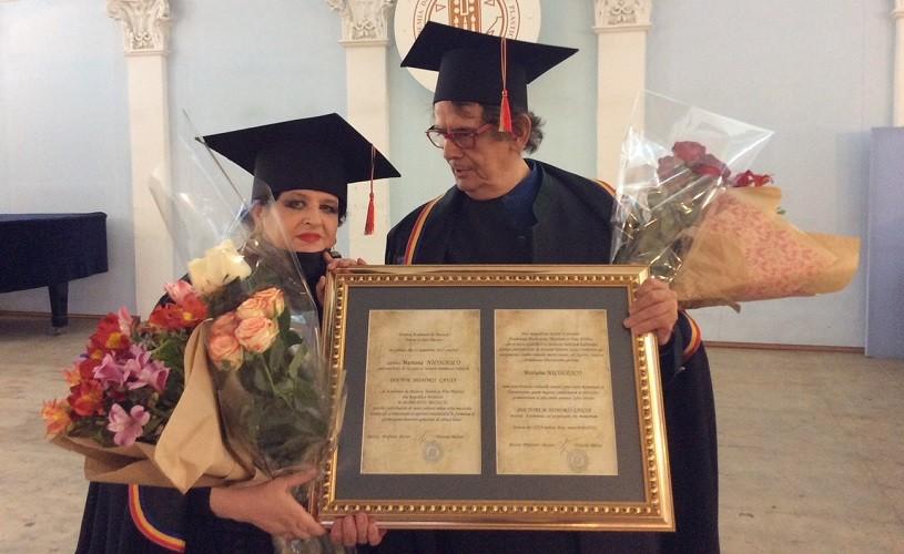 Mariana NICOLESCO şi Radu VARIA au primittitlul de Doctor Honoris Causaal Academiei de Arte