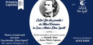 129 de ani de la moartea lui Mihai Eminescu / Recital de muzică și poezie la Casa Artelor