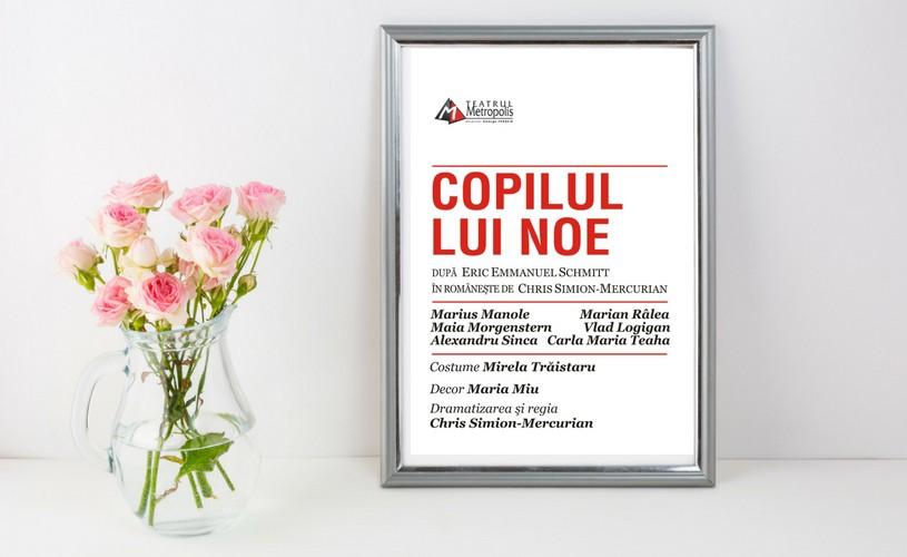"""""""Copilul lui Noe"""", un nou spectacol la Teatrul Metropolis, cu Maia Morgenstern, Marius Manole și Marian Râlea"""