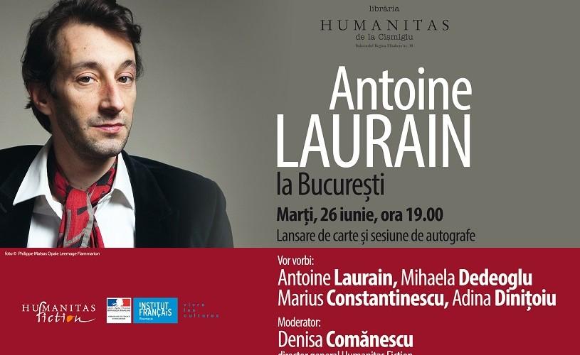 Întâlnire cu scriitorul francez Antoine Laurain, la București