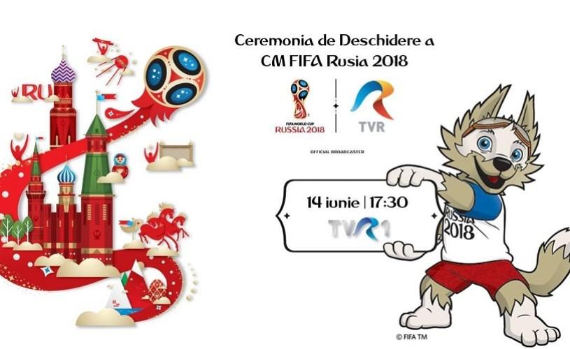 Robbie Williams, Aida Garifullina şi Ronaldo, în deschiderea Cupei Mondiale din Rusia. Astăzi, la TVR 1, de la ora 17.30