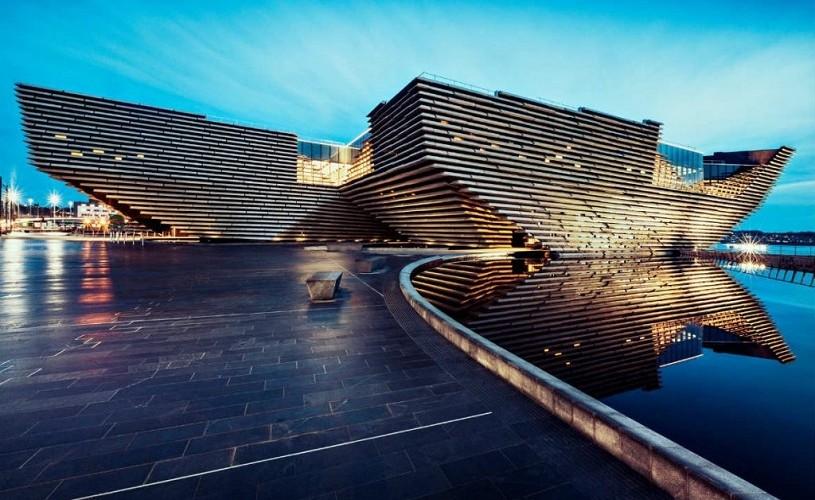 Primele imagini ale interiorului muzeului de design V & A din Dundee, Scoția