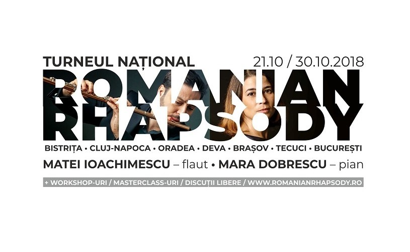 Romanian Rhapsody. Flautistul Matei Ioachimescu și pianista Mara Dobrescu, într-un proiect muzical
