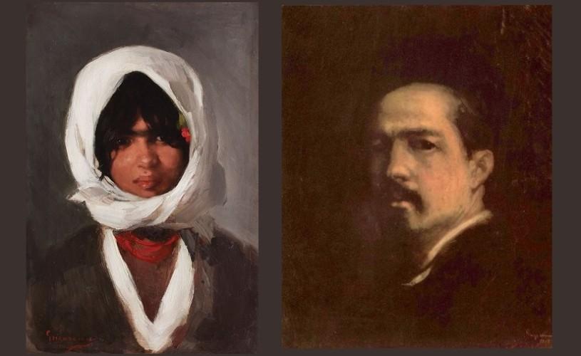 """Tabloul """"Ţărăncuţă cu basma albă"""", de Nicolae Grigorescu, vândut cu un preț record"""