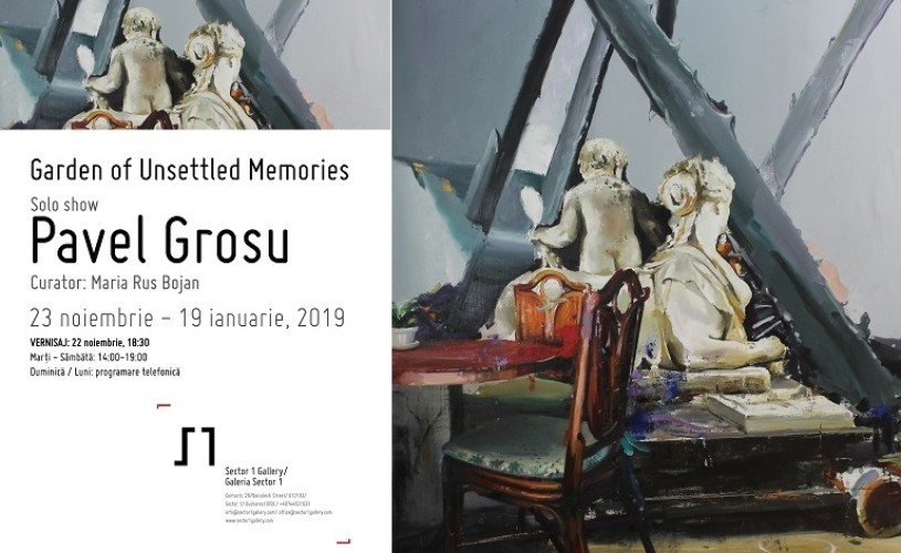 VERNISAJ. ​Garden of Unsettled Memories – expoziție personală Pavel Grosu