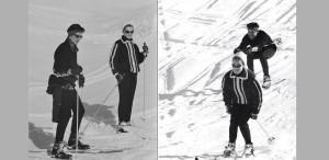 Undeva, cândva... Alain Delon și Romy Schneider, la schi