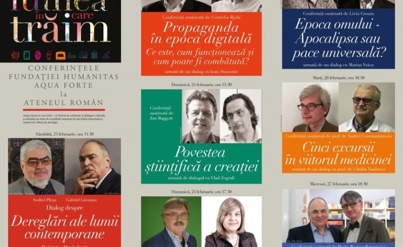 """Provocările lumii contemporane, discutate la conferințele """"Despre lumea în care trăim"""""""