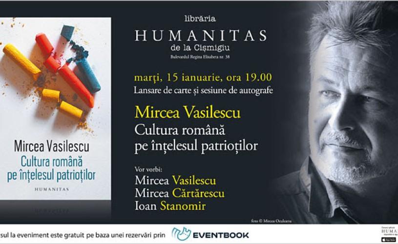 Întâlnire cu Mircea Vasilescu, Mircea Cărtărescu și Ioan Stanomir la Librăria Humanitas de la Cișmigiu
