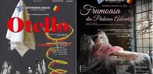 """""""Otello"""" și """"Frumoasa din Pădurea Adormită"""", în lacest weekend,pe scena Operei Naționale București"""