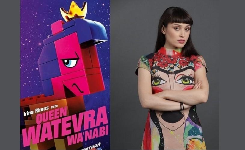 """Irina Rimes este regină pe marile ecrane, numai în ,,Marea Aventura Lego 2"""""""