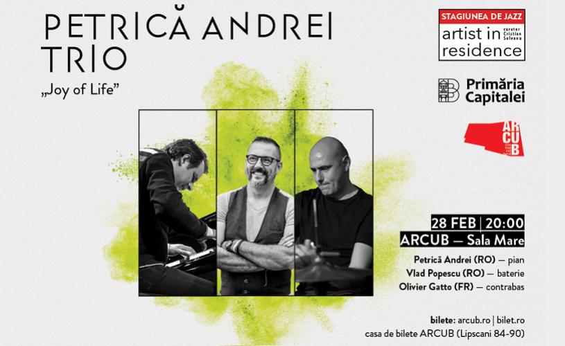 Concertul de jazz Luiza Zan Trio de la ARCUB este sold out. La Artist In Residence urmează Petrica Andrei Trio