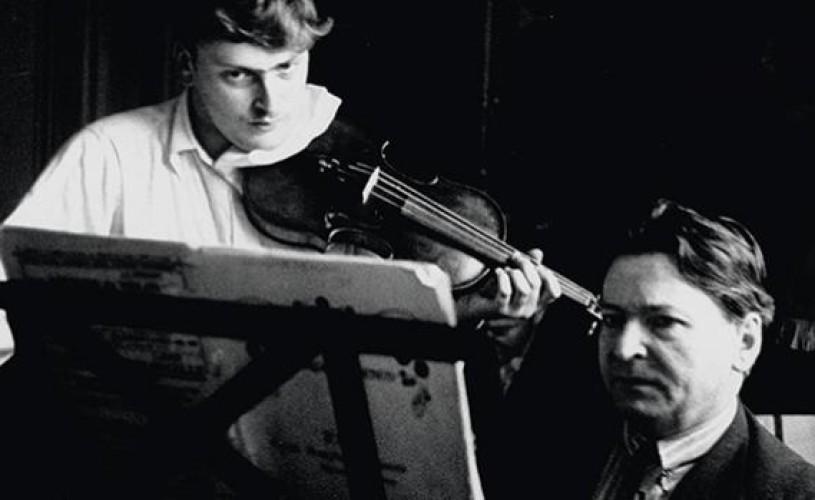 Undeva, cândva… Yehudi Menuhin alături de profesorul său, George Enescu