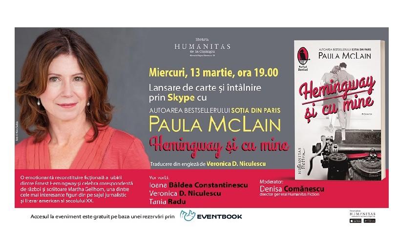 """Lansarea romanului """"Hemingway și cu mine"""", de Paula McLain"""