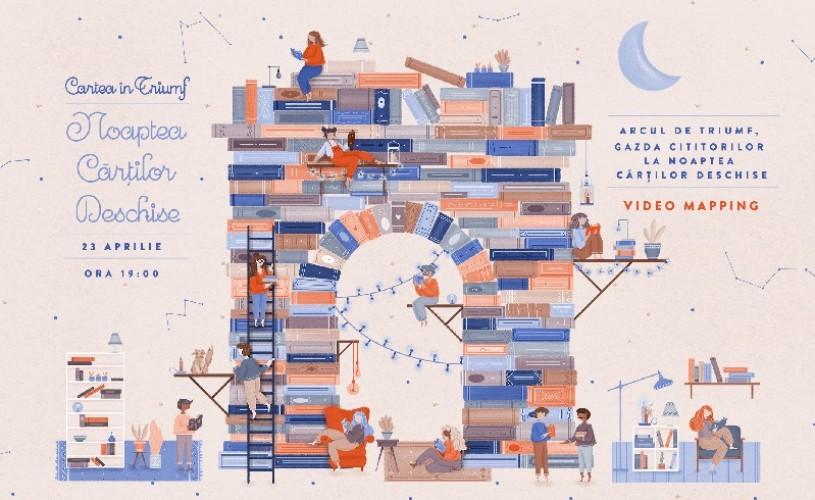 Arcul de Triumf este gazda cititorilor la Noaptea Cărților Deschise