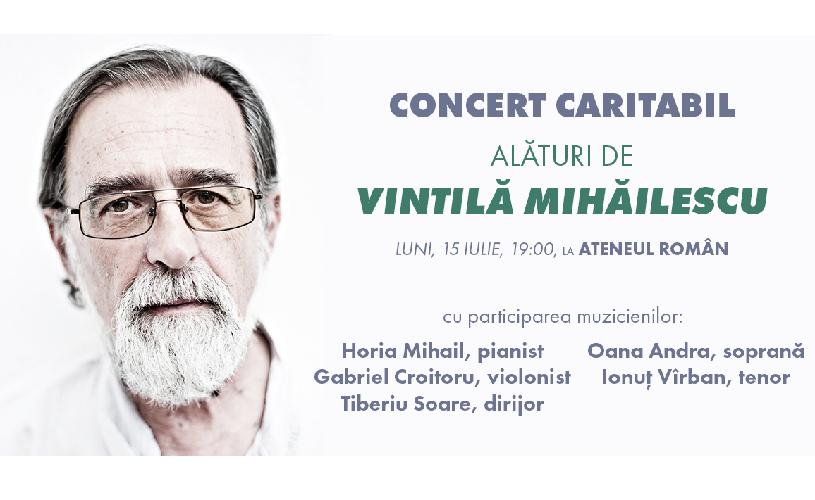 Concert caritabil pentru antropologul Vintilă Mihăilescu, la Ateneul Român