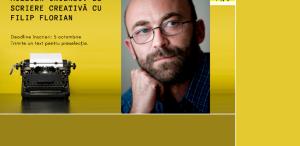 Filip Florian ține atelier de scriere creativă la București