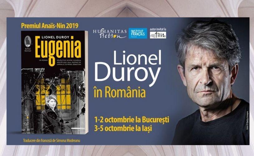 Lionel Duroy – autorul romanului Eugenia, inspirat de Jurnalul lui Mihail Sebastian – la București și la Iași