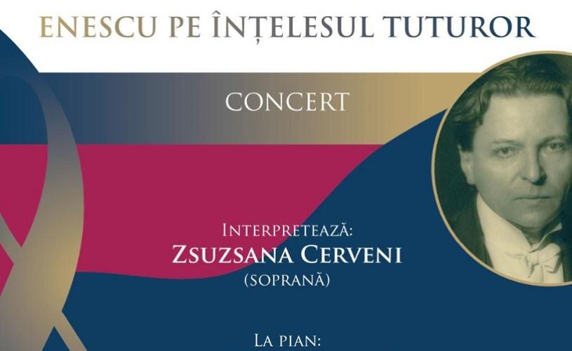 """""""Enescu pe înțelesul tuturor"""", pe esplanada Operei Naționale București"""