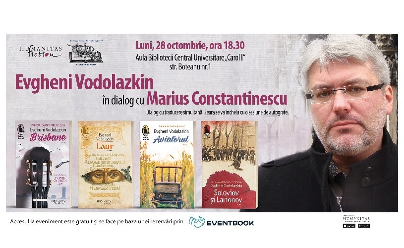 Scriitorul Evgheni Vodolazkin în dialog cu Marius Constantinescu