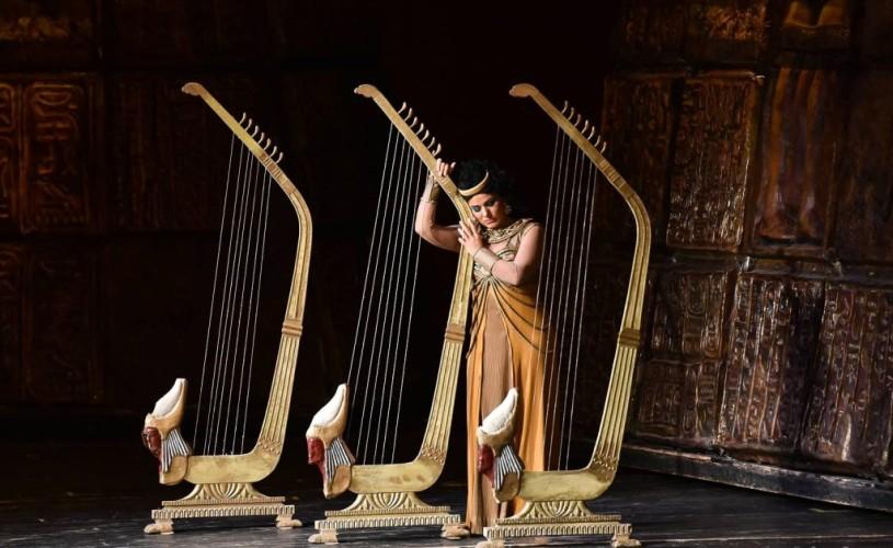 """Lăcrimioara Cristescu și Mikheil Sheshaberidze, pe scena Operei Naționale București în """"Aida"""""""