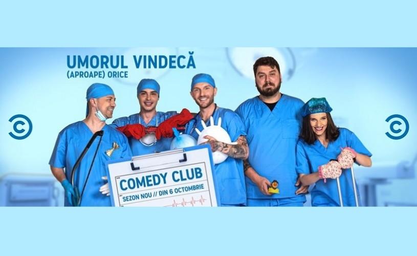 Cei mai îndrăgiți comedianți români revin pe micile ecrane la Comedy Central, într-un nou sezon Comedy Club
