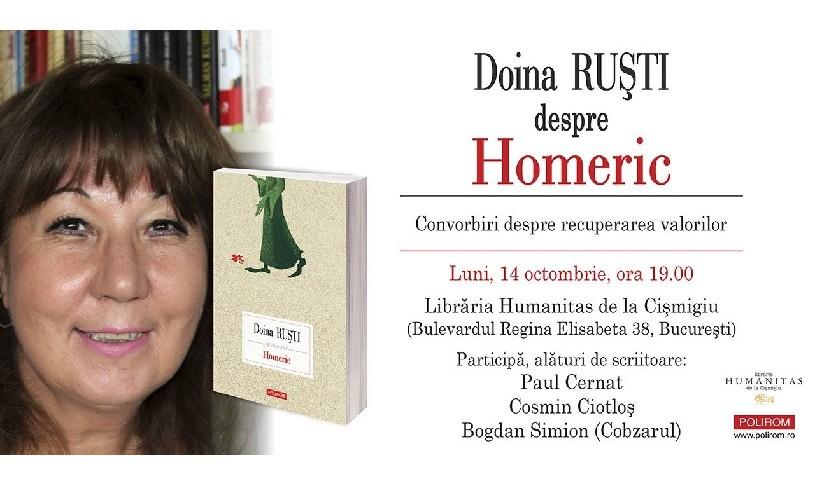 Întâlnire cu scriitoarea Doina Ruști, la Librăria Humanitas Cișmigiu