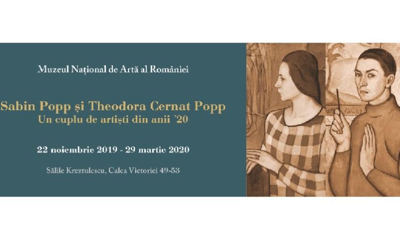 """""""Sabin Popp și Theodora Cernat Popp, un cuplu de artiști din anii '20"""", la MNAR"""